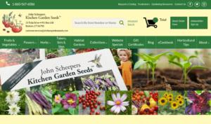 screenshot of John Scheepers Kitchen Garden Seeds website
