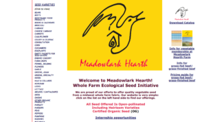 screenshot of Meadowlark Hearth website