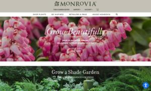 screenshot of Monrovia website