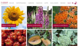 screenshot of Thomas Jefferson Center for Historic Plants website
