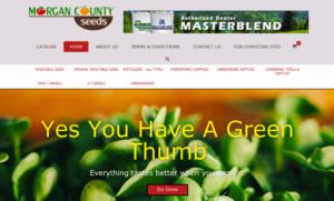 screenshot Morgan County Seeds website