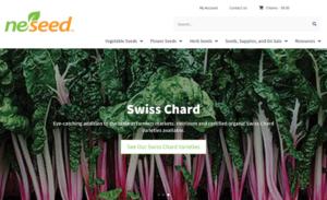 screenshot of Neseed website