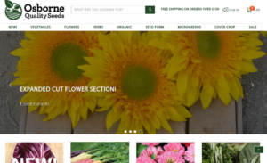 screenshot of Osborn Quality Seed website
