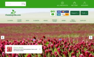 screenshot of Outsidepride.com website