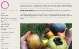 screenshot of Perfect Circle Farm website