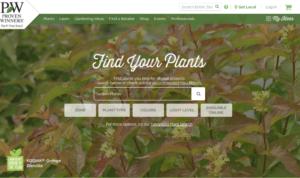 screenshot of Proven Winners website