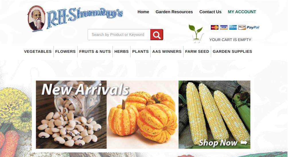 screenshot of R. H. Shumway's website
