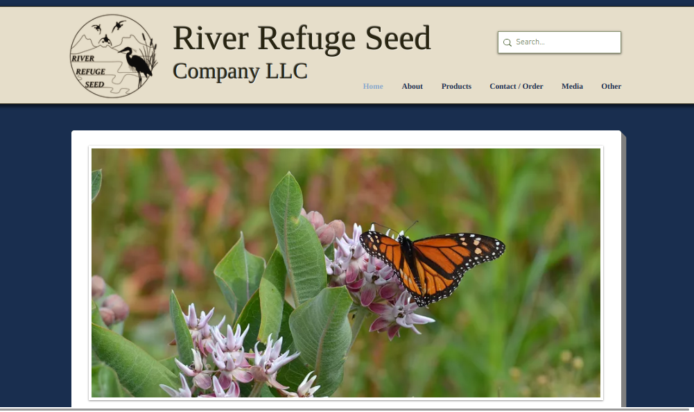 screenshot of River Refuge Seed website