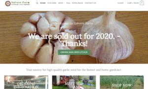 screenshot of Salverre Farm website