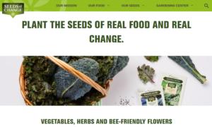 screenshot of Seeds of Change website