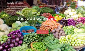 screenshot of Seeds of India website