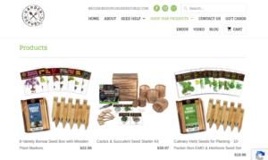 screenshot of Garden Republic website