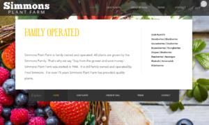 screenshot of Simmons Plant Farm website