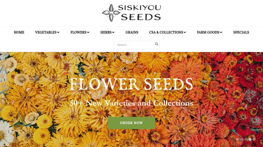 screenshot of Siskiyou Seeds website