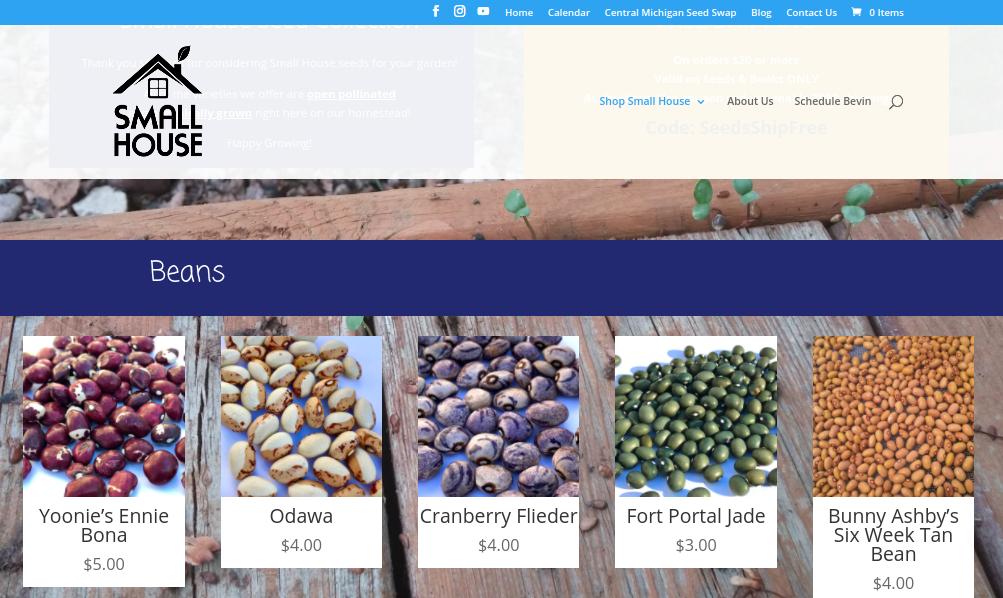 screenshot of Small House Farm website