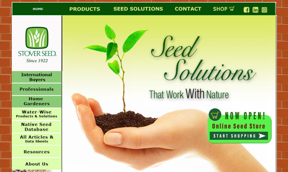 screenshot of Seed Solutions website