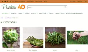 screenshot of Pinetree Garden Seeds & Accessories website