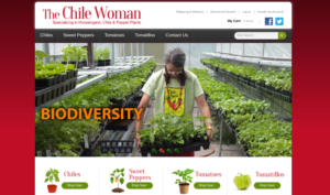 screenshot of The Chile Woman website