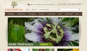 screenshot of Trade Winds Fruit website