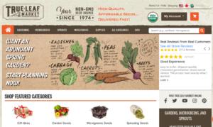 screenshot of True Leaf Market website
