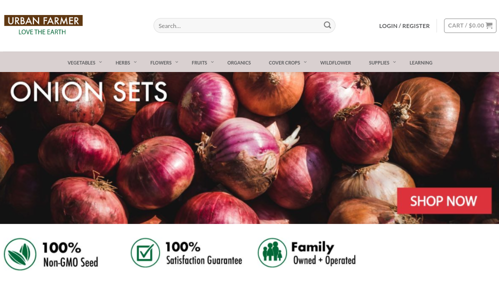 screenshot of Urban Farmer website