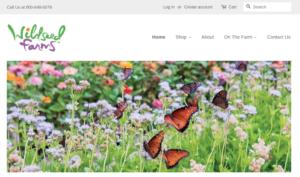 screenshot of Wildseed Farms website