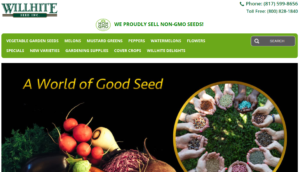 screenshot of Willhite Seed website